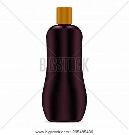 Sun Lotion Bottle. Sunscreen Cream. Sunblock Care Cosmetic Product. Bronze Suntan Plastic Container.