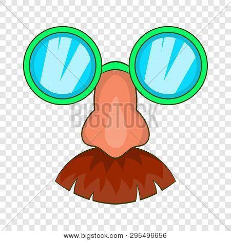 Disguise Mask Icon In Cartoon Style Isolated On Background For Any Web Design