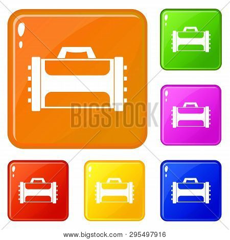 Welding Machine Icons Set Collection Vector 6 Color Isolated On White Background