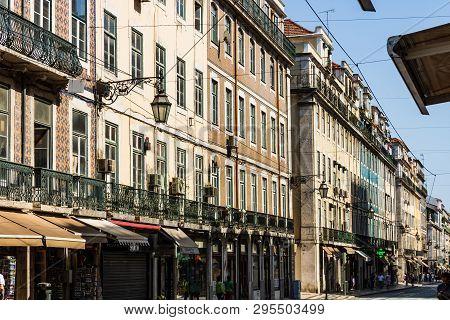 Lisbon, Portugal - 2019. Augusta Street The Most Famous Lisbon Street.