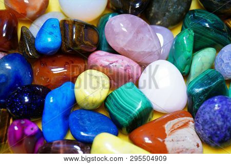 Beautiful Gemstones Minerals For Relaxation And Meditation. Natural Mineral Gem Stone