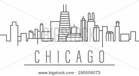 Chicago City Outline Icon. Elements Of Cities And Countries Illustration Icon. Signs And Symbols Can