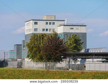 Kloten, Switzerland - September 30, 2016: The Zurich Airport Prison. The Zurich Airport Prison (germ