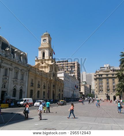 The Royal Court Palace (museo Histórico Nacional In Spanish), On Plaza De Armas In Santiago De Chile