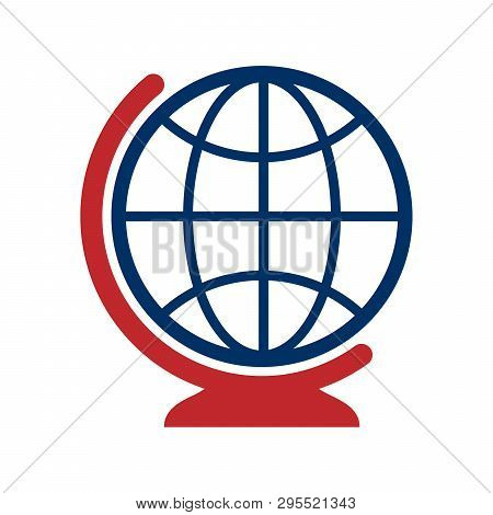 Globe Icon Isolated On White Background, Globe Icon Eps10, Globe Icon Vector, Globe Icon Eps, Globe