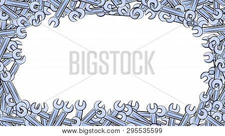 Frame Made Of Metal Blue Blue Gas Wrenches For Locksmith Building Repair For Loosening And Tightenin