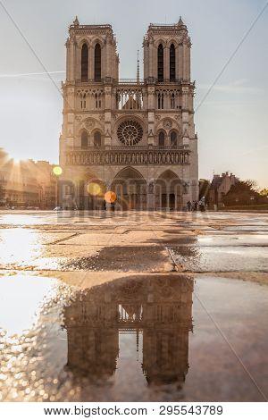 I'm Notre Dame, Je Suis Notre Dame, Good Luck Notre Dame, Famous Cathedral In Paris, France