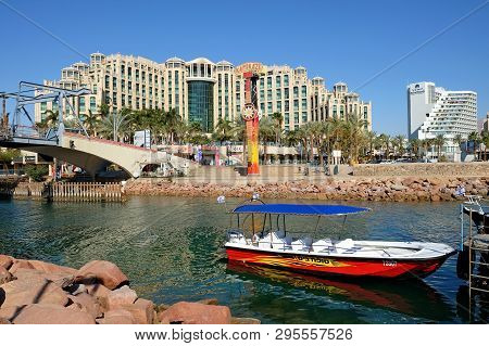 Eilat, Israel - March 03, 2019: View Of The Hotel Queen Of Sheba In The Resort Town Of Eilat