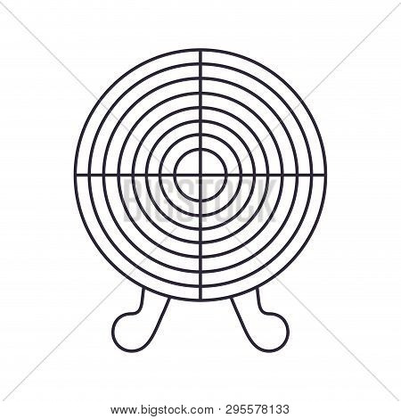 Target Shooting Isolated Icon Vector Illustration Design