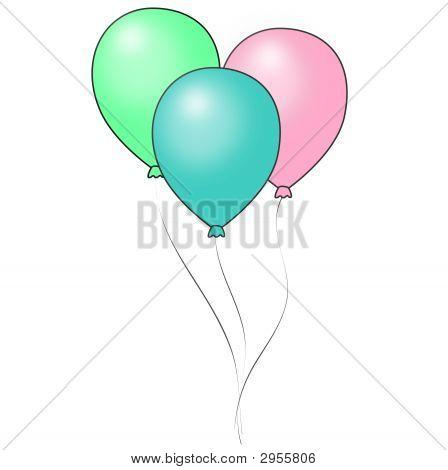 Shiny Pastel Balloons