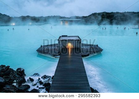 Geothermal Spa Blue Lagoon In Reykjavik, Iceland.