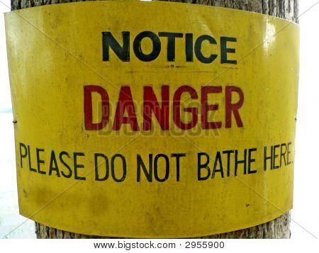 A Danger Notice