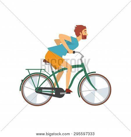 Bearded Man Riding Vector & Photo (Free Trial) | Bigstock