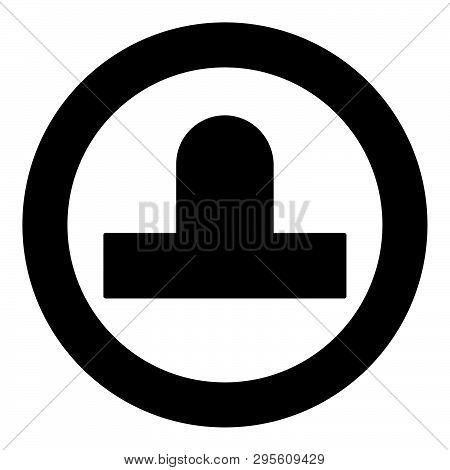 Bit Aero Hockey Icon In Circle Round Black Color Vector Illustration Flat Style Simple Image 48
