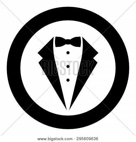 Symbol Service Dinner Jacket Bow Tuxedo Concept Tux Sign Butler Gentleman Idea Waiter Suit Icon In C
