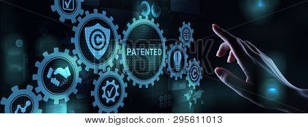 Patented Patent Copyright Law Business Technology Concept.