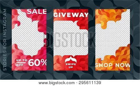 Set Of Instagram Stories Sale Banner Background, Instagram Template Photo, Can Be Use For, Landing P