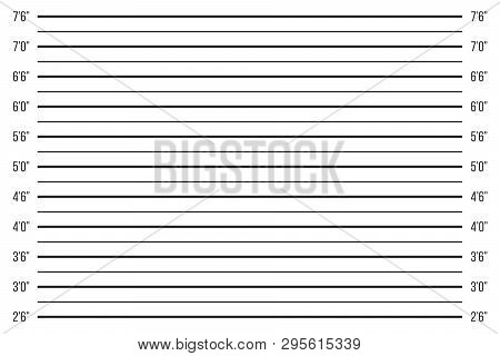 Creative Vector Illustration Of Police Lineup, Mugshot Template With A Table Isolated On Transparent