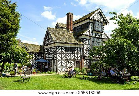 Congleton; Cheshire; England, United Kingdom - June 17 2017 : Tourists Visiting Little Moreton Hall