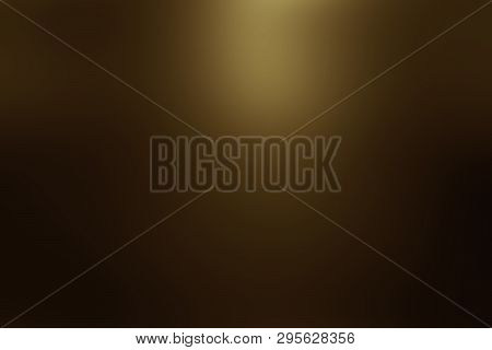 Abstract Dark Gold Background Luxury Christmas Holiday Wedding Background Brown Frame Bright Spotlig