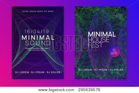 Electro event. Dynamic gradient shape and line. Abstract show cover set. Electro event neon flyer. Trance dance music. Electronic sound. Club fest poster. Techno dj party. poster