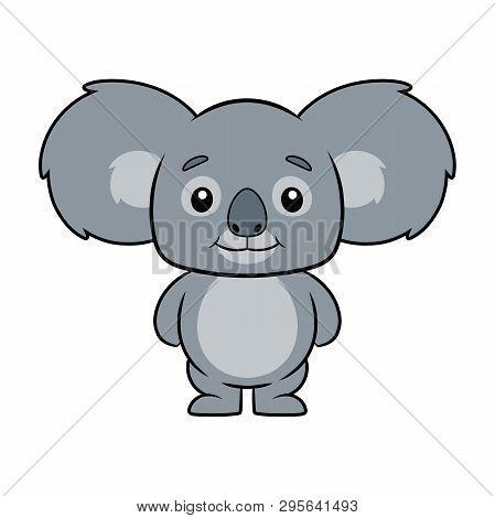 Illustration Of A Cute Koala Bear On A White Background