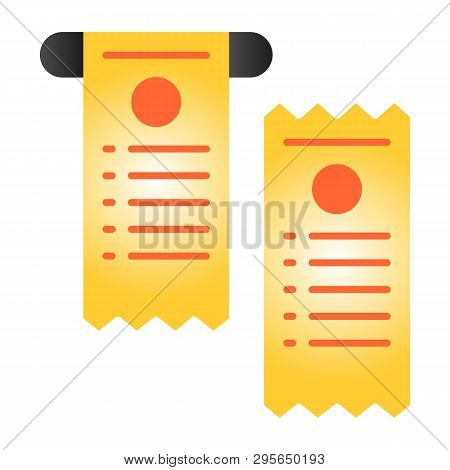 Pay Check Flat Icon. Cheque Color Icons In Trendy Flat Style. Paper Check Gradient Style Design, Des