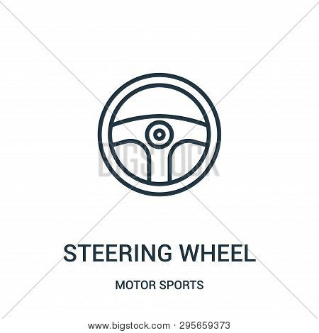 Steering Wheel Icon Isolated On White Background From Motor Sports Collection. Steering Wheel Icon T