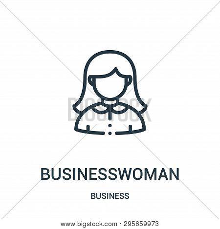 Businesswoman Icon Isolated On White Background From Business Collection. Businesswoman Icon Trendy
