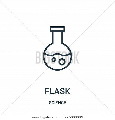 Flask Icon Isolated On White Background From Science Collection. Flask Icon Trendy And Modern Flask