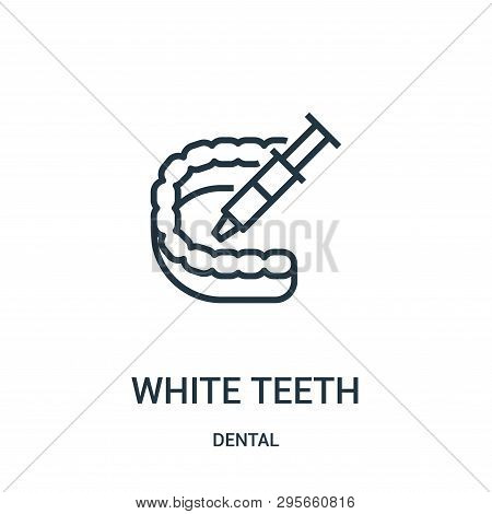 White Teeth Icon Isolated On White Background From Dental Collection. White Teeth Icon Trendy And Mo