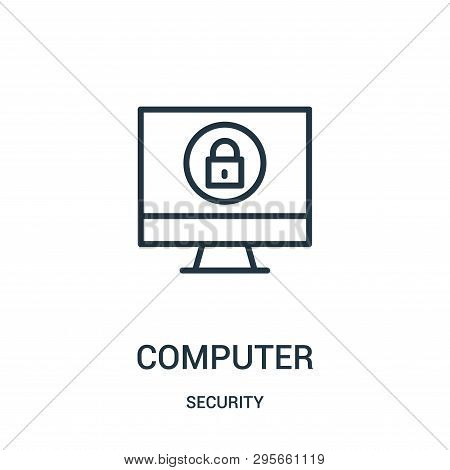 Computer Icon Isolated On White Background From Security Collection. Computer Icon Trendy And Modern