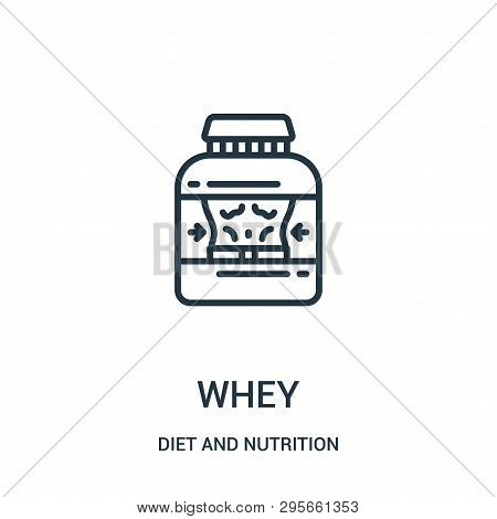Whey Icon Isolated On White Background From Diet And Nutrition Collection. Whey Icon Trendy And Mode