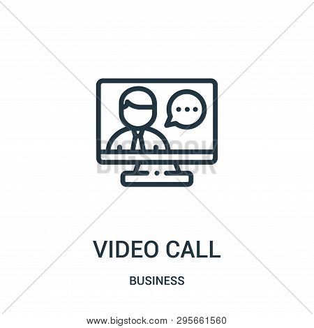 Video Call Icon Isolated On White Background From Business Collection. Video Call Icon Trendy And Mo