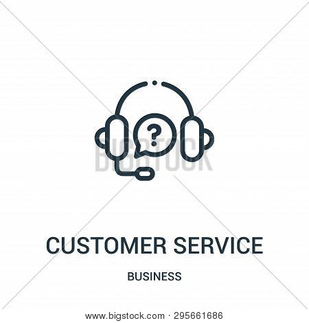 Customer Service Icon Isolated On White Background From Business Collection. Customer Service Icon T