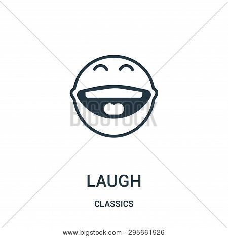 Laugh Icon Isolated On White Background From Classics Collection. Laugh Icon Trendy And Modern Laugh