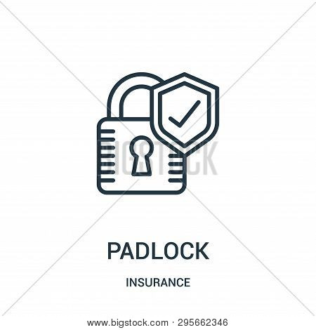Padlock Icon Isolated On White Background From Insurance Collection. Padlock Icon Trendy And Modern