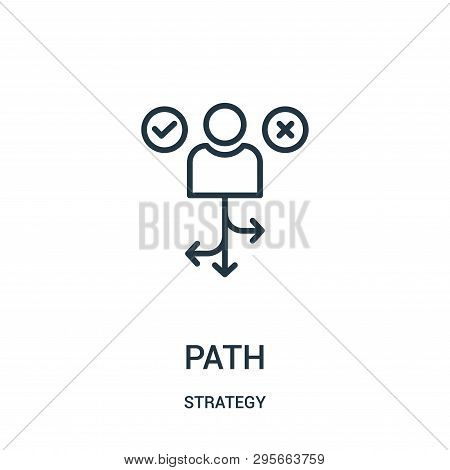 Path Icon Isolated On White Background From Strategy Collection. Path Icon Trendy And Modern Path Sy