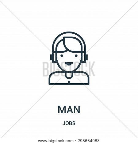 Man Icon Isolated On White Background From Jobs Collection. Man Icon Trendy And Modern Man Symbol Fo