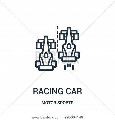 Racing Car Icon Isolated On White Background From Motor Sports Collection. Racing Car Icon Trendy An
