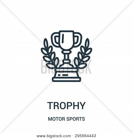 Trophy Icon Isolated On White Background From Motor Sports Collection. Trophy Icon Trendy And Modern