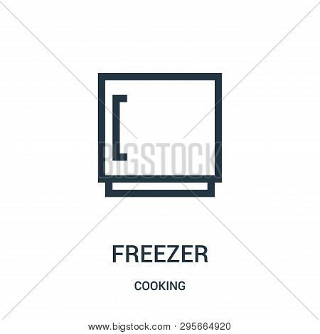 Freezer Icon Isolated On White Background From Cooking Collection. Freezer Icon Trendy And Modern Fr