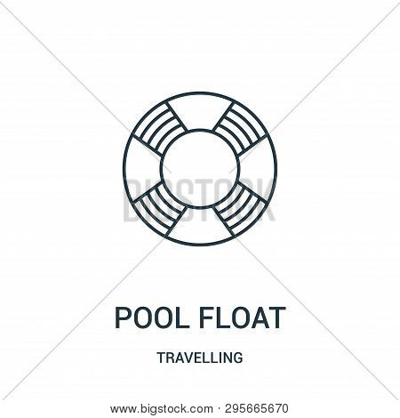 Pool Float Icon Isolated On White Background From Travelling Collection. Pool Float Icon Trendy And
