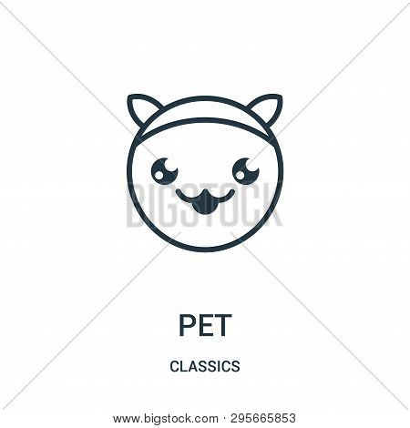 Pet Icon Isolated On White Background From Classics Collection. Pet Icon Trendy And Modern Pet Symbo