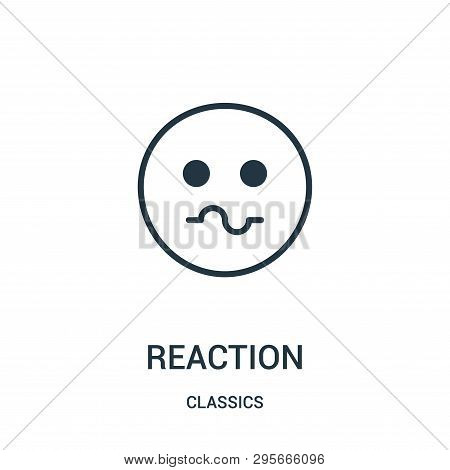 Reaction Icon Isolated On White Background From Classics Collection. Reaction Icon Trendy And Modern