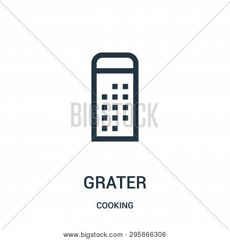 Grater Icon Isolated On White Background From Cooking Collection. Grater Icon Trendy And Modern Grat
