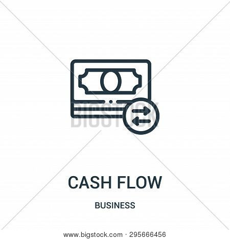 Cash Flow Icon Isolated On White Background From Business Collection. Cash Flow Icon Trendy And Mode