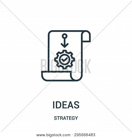 Ideas Icon Isolated On White Background From Strategy Collection. Ideas Icon Trendy And Modern Ideas