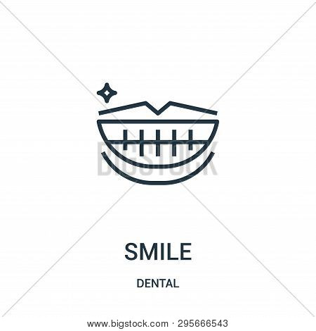 Smile Icon Isolated On White Background From Dental Collection. Smile Icon Trendy And Modern Smile S