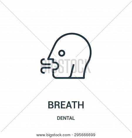 Breath Icon Isolated On White Background From Dental Collection. Breath Icon Trendy And Modern Breat